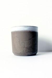 Grey stoneware cup